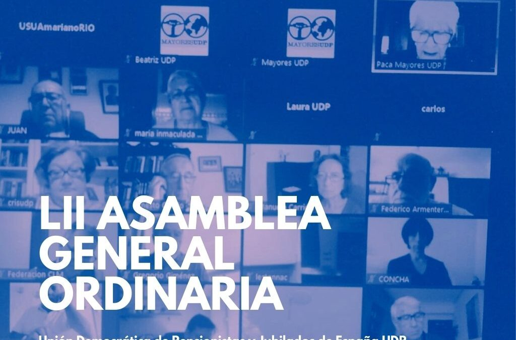UDP celebra la LII Asamblea General Ordinaria de forma virtual